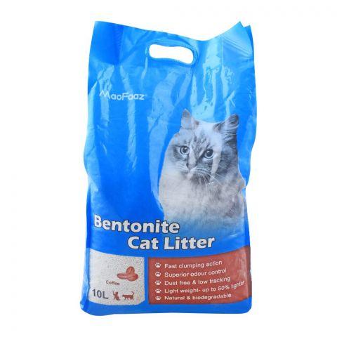 MaoFaaz Bentonite Cat Litter, Coffee, 10 Litres