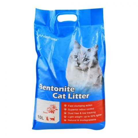 MaoFaaz Bentonite Cat Litter, Rose, 10 Litres