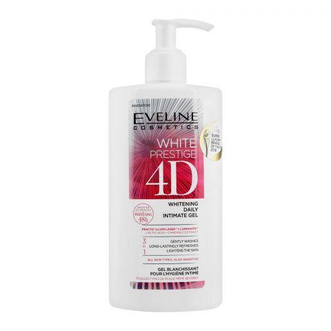 Eveline 48H White Prestige 4D 3-In-1 Whitening Daily Intimate Gel, 250ml