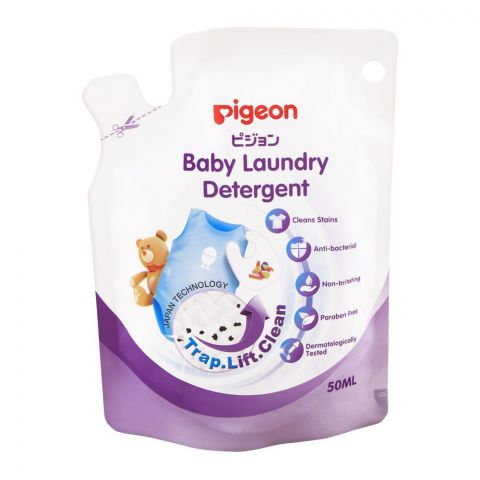 Pigeon Baby Laundry Detergent Pouch, 50ml, M78018