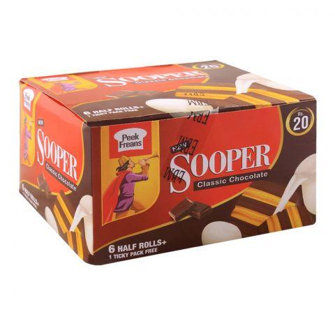 Peek Freans Sooper Classic Chocolate Biscuits, 6 Half Rolls