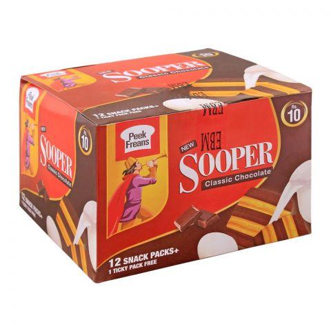 Peek Freans Sooper Classic Chocolate Biscuits, 12 Snack Packs