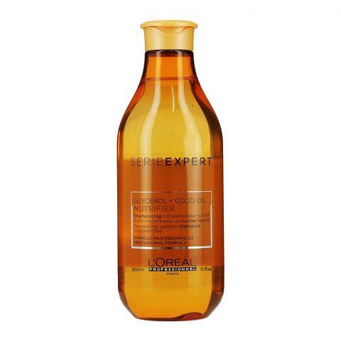 L'Oreal Professionnel Serie Expert Glycerol + Coco Oil Nutrifier Shampoo, 300ml