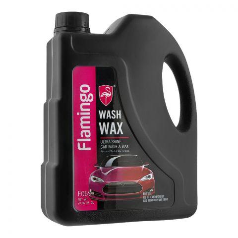 Flamingo Car Wash & Wax, Ultra Shine, 2 Liters