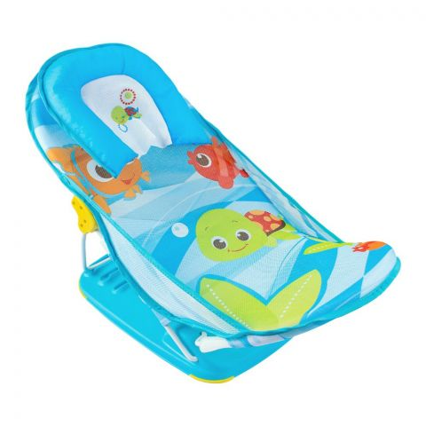 Mastela Deluxe Baby Bather, Blue, Turtles/Fish Pattern, 7163