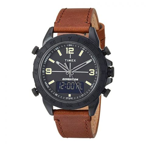 Timex Men's Expedition Pioneer Combo 41mm Watch, Brown Strap, TW4B17400