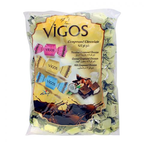 Vigos Assorted Compound Chocolate Candy, 1 KG Bag