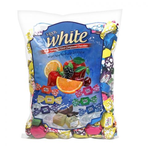 Vigos White Fruit Compound Chocolate Candies, 1Kg Bag