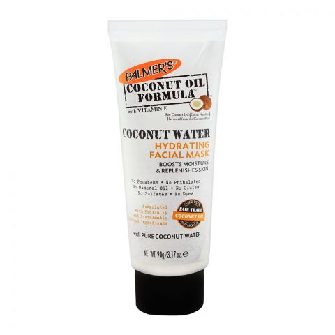 Palmer's Coconut Oil Formula Coconut Water Hydrating Facial Mask, Paraben Free, 90g