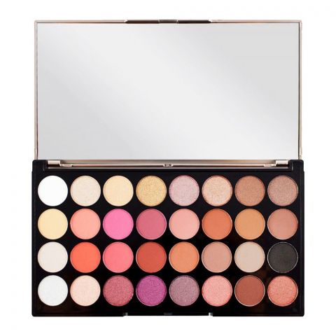 Makeup Revolution Eyeshadow Palette, Flawless 4, 32 Pieces