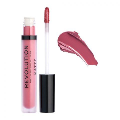 Makeup Revolution Matte Liquid Lipstick, Rose 118