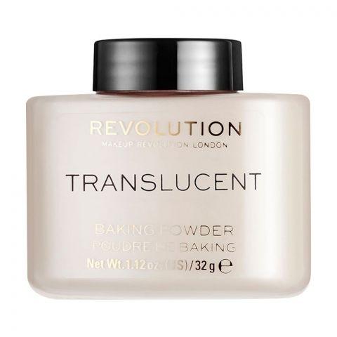 Makeup Revolution Translucent Baking Powder, 32g