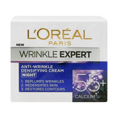 L'Oreal Paris Wrinkle Expert Anti-Wrinkle Densifying Night Cream, 55+ Calcium, 50ml