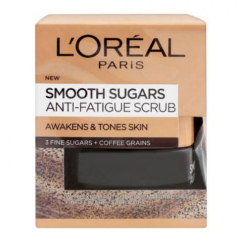 L'Oreal Paris Smooth Sugars Anti-Fatigue Scrub, 50ml