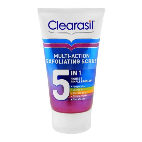 Clearasil Multi-Action 5-In-1 Exfoliating Scrub, Fights 5 Pimple Problems, 150ml