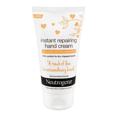 Neutrogena Instant Repairing Hand Cream, With Shea Butter & Beeswax, 75ml