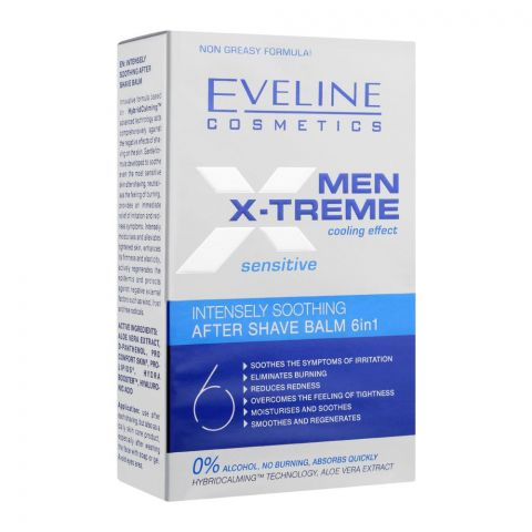 Eveline Men Xtreme Cooling Effect Sensitive Intensely Soothing After Shave Balm, 150ml