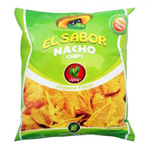 EL Sabor Nacho Chips, Jalapeno Flavor, 100g
