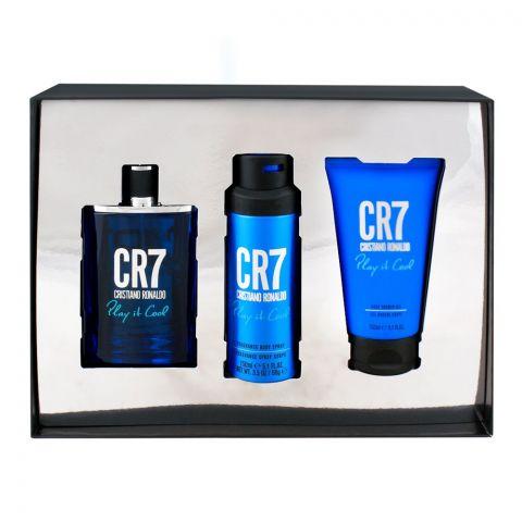 Cristiano Ronaldo CR7 Set Play It Cool Eau De Toilette 100ml + Shower Gel + Deodorant Body Spray