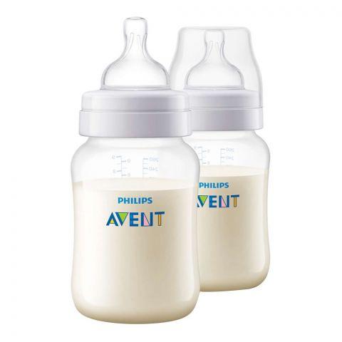 Avent Anti-Colic Wide Neck Feeding Bottles, 1m+, 2 Pieces, 260ml/9oz, SCF813/27