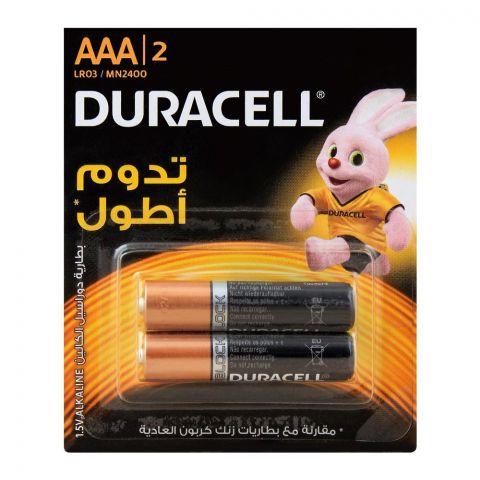 Duracell AAA Alkaline 1.5V Batteries, 2-Pack