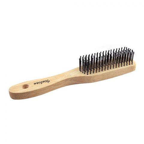 Hair Brush, Wooden Style, Rectangle Shape, 17060G