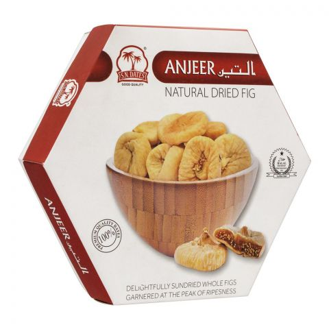 S. N. Dates Natural Dried Fig (Anjeer), Box Pack, 250g