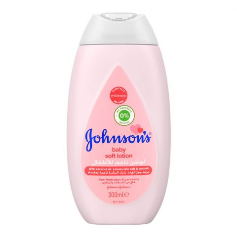 Johnson's Baby Soft Lotion, Paraben Free, Imported, 300ml
