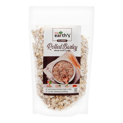 The Earth's Classic Rolled Barley, Whole Grain Cereal, 300g