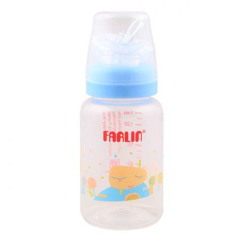 Farlin Silky PP Standard Neck Feeding Bottle, 0m+, 140ml/5oz, Blue, AB-41016-B
