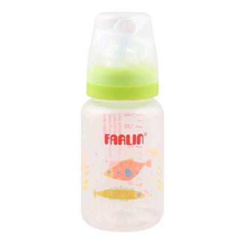 Farlin Silky PP Standard Neck Feeding Bottle, 0m+, 140ml/5oz, Green, AB-41016-M