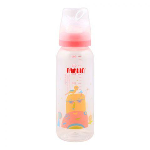 Farlin Silky PP Standard Neck, Feeding Bottle, 3m+, 240ml/8oz, Pink, AB-41017-G