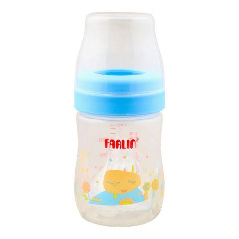 Farlin Silky PP Wide Neck Feeding Bottle, 0m+, 150ml/5oz, Blue, AB-41015-B