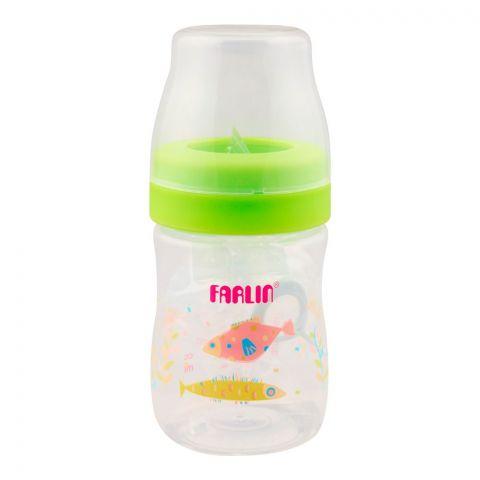 Farlin Silky PP Wide Neck Feeding Bottle, 0m+, 150ml/5oz, Green, AB-41015-M