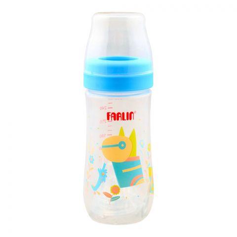Farlin Silky PP Wide Neck Feeding Bottle, 3m+, 270ml/9oz, Blue, AB-42016-B