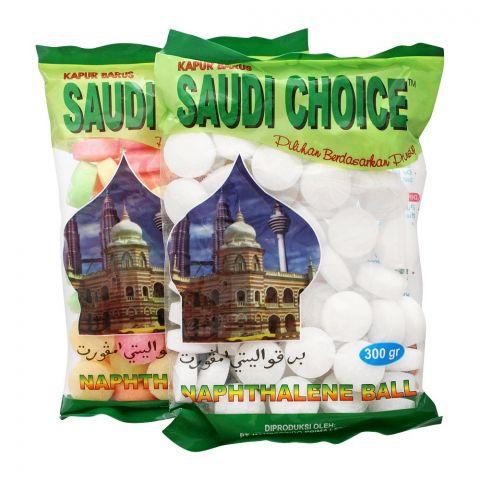 Saudi Choice Naphthalene Balls, White, 300g
