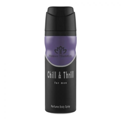 Miriam Marvels Chill & Thrill For Men Deodorant Body Spray, 200ml