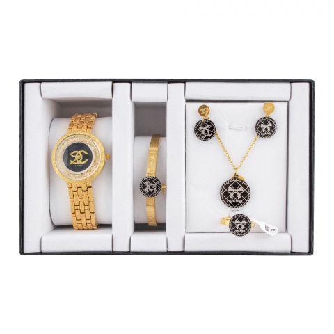 Channel Style Girls Watch & Jewellery Gift Set, NS-0153