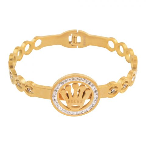 Rolex Style Girls Bracelet, Golden, NS-0163