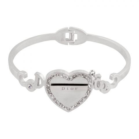 Dior Style Girls Bracelet, Silver, NS-0164