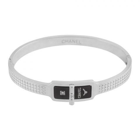 Channel Style Girls Bracelet, Silver, NS-0167