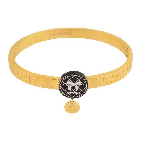 Channel Style Girls Bracelet, Golden, NS-0168
