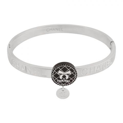 Channel Style Girls Bracelet, Silver, NS-0168
