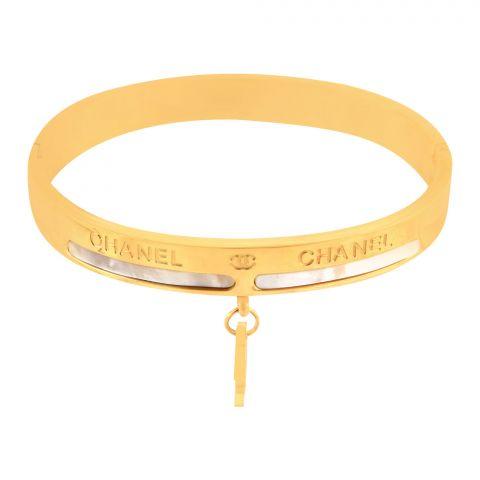 Channel Style Girls Bracelet, Golden, NS-0172
