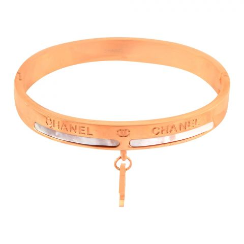 Channel Style Girls Bracelet, Rose Gold, NS-0172