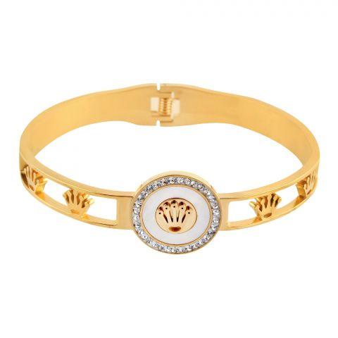 Rolex Style Girls Bracelet, Golden, NS-0175