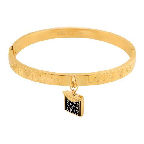 LV Style Girls Bracelet, Golden, NS-0177