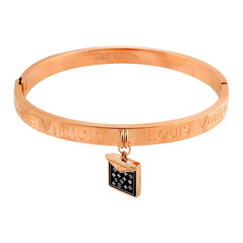 LV Style Girls Bracelet, Rose Gold, NS-0177