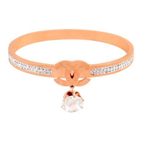 Channel Style Girls Bracelet, Rose Gold, NS-0178