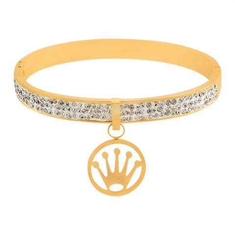Rolex Style Girls Bracelet, Golden, NS-0179